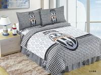 Juventus Football Fans kid boys girls duvet cover sheet pillowslips sets single / twin children's bedding sets gift bed linen