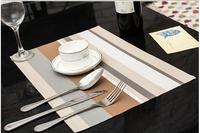Continental no smell green fresh PVC waterproof insulation eat mat cup mat coaster stripe table mats