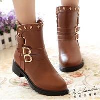 Rivet Martin boots low flat woman short platform high boots designer shoes women women winter boots waterproof ankle boots sexy
