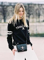 2014 new fashion women elegant Eiffel Tower & letter print Knitted sweater Lady winter casual loose pullover #J321