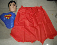 2014 New Cosplay Superman Batman Halloween costumes for kids mask+chest+Cloak/set