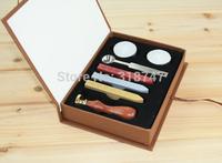 Free Shipping Wholesale Vintage Alphabet Wax Badge Seal Stamp w/Wax Kit Set  Decorative Gift  1set/lot  074004025