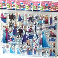 144 Designs Frozen Design Kids Cute PVC Puffy Stickers, 3D Stickers. Cartoon Sticker Craft Scrapbook Stickers