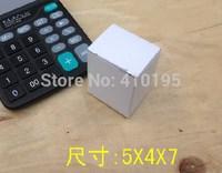 Free shipping wholesale 100pcs/lot  5*4*7cm white 400g corrugated board electtonic packaging box,mini gift packaging box