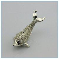 Crystal dolphins shape jewelry box  charm promotional gift custom fancy Jewelry box SCJ041-2