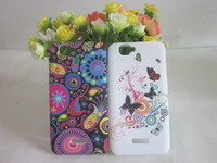 1 Piece/lot ,Free shipping,Coulorful Flower & Butterfly Flag Soft TPU Case for Explay Fresh