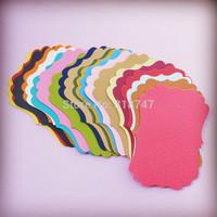 Free Shipping 9.2*6.5cm DIY Photo Album decoration Handmade scrapbook Paper Card (100pcs/lot) 048012053(1)