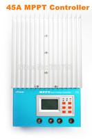 100% TURE MPPT 45A Solar Charge Controller eTracer ET4415, ET4415N 12V 24V 36V 48V EP Solar Panel Charge Regulator,LCD Display