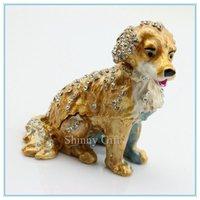 Crystal dog shape jewelry box  custom made jewelry boxes wholesale  favors high quality jewelry display box SCJ050