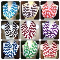 Real retail 10pcs/lot ladies Girls Wave Chevron Infinity scarf women and Teens Circle Loop scarf,ladies scarves