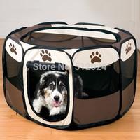5pcs/lot  45*30*72cm Folding Portable Puppy Pet Playpen Portable Dog Cat Pet Play Pen Cage Kennel Crate Tent  Free shipping