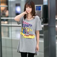 Roupas Femininas 2014 Summer Big Size Women Clothes Casual Character Print Loose Short Sleeve Cotton TShirts 239