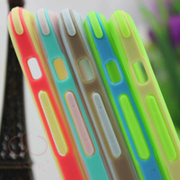 [FreeShipping]wholesale elastic TPU bumpers for iphone6 4.7inch phonecases polished phonecase 0.03mm  transparent  PC04