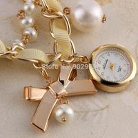 Wholesale Women Nice Pearl Crystal Bangle Watch Ladies Cuff Quartz Watch vintage watch women dress watches
