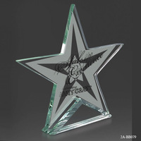 Noble Best selling new design high quality jade glass star award Grant Jade glass Star trophy