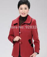 Hot ! 2014 Autumn New Mother Clothing Middle-Age Women's Coat Jacket