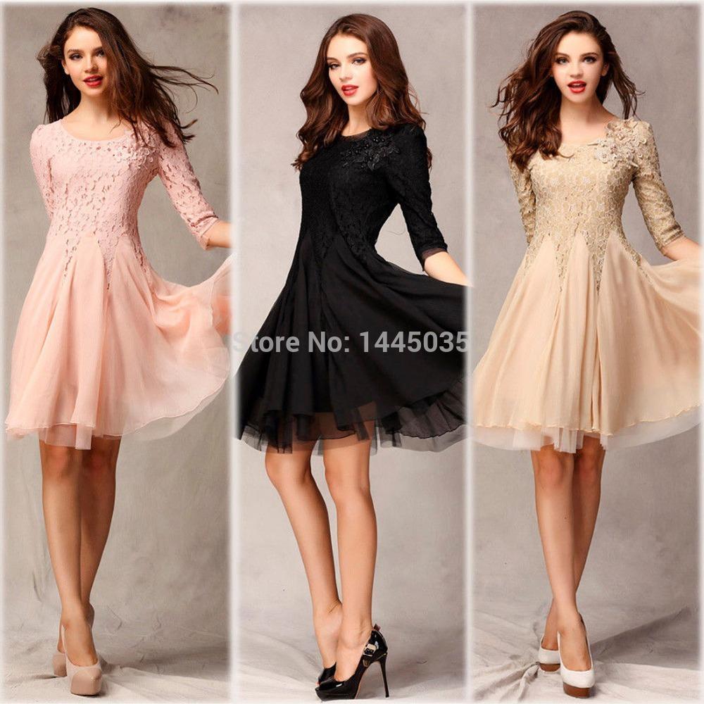 Вечерние платья по колен