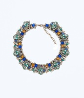 2014 New Fashion and Colorful Charm Short Exaggerated Costly women Crystal Necklace quality Deserve to act the role of jewelry