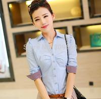 2014 women  Autumn blouses long-sleeved shirt blouse large size shirts