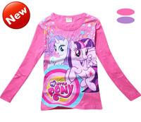 Hot Sale 3-7Yrs Girls Children T Shirt Cartoon My Little Pony Style Active Full Sleeve Cotton High Quailty 9108