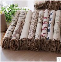 25 *25cm FREE SHIPPING 2014 Burlap block Small Cloth Fabric New diy manual accessories 20PCS/LOT