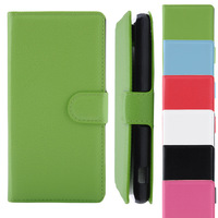 Multi Colors Magnetic Wallet Flip PU Leather Cover For Sony Z2 Free Shipping XCA0103
