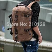 Free shipping,Men's male Vintage cotton canvas Travel backpack,Sport Outdoor Rucksack school bag Satchel Hiking bag