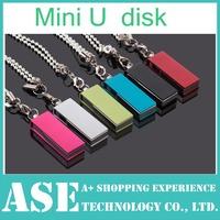 Free shipping Metal  tiny  4GB 8GB 16GB 32GB 64GB Rotating mini u disk usb flash pen drive memory stick flash card pendrive