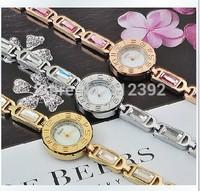 Korea Julius Fashion Lady Quartz Wrist Watch Round OL Vintage Luxury Design Shell Dial Rhinestones Women's Watch Quartz  JA-705