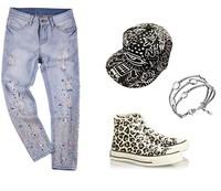 Crystal  Ripped jeans blue white trousers plus size Female Retro denim capris European Fashion Casual pants clothing