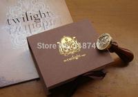 Free Shipping Twilight Saga Seal Stamp w/Wax Edward Cullen Vampire Family Badge Set  New in Box  1set/lot  074004026