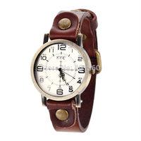 2014 New Women's Vintage Eiffel Tower Dial Genuine Leather Band Quartz Analog Wrist Watch Women Dress Watch