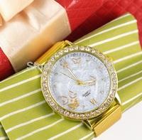 Free Shipping Women Watches Dress Rhinestone Analog Wristwatches Men Diamonds Casual Watch 2014 Ladies Unisex Quartz Watches