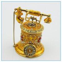 Diamond  telephone shape jewelry box wholesale metal european style factory jewelry SCJ183