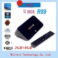 U box R89 G BOX RK3288 Qaud Core Android TV Box 2G RAM 8G ROM Support 4K BT4.0 H.265 OTA Andriod 4.4