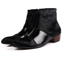 2014 New Free shipping men Motorcycle Boots Round Toe Boots Korean High Shoe Boots Male Business Casual Shoes