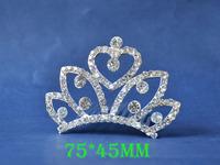 2014 New Fashion Wedding Bridal Crystal Rhinestone Crown Headband Jewelry Tiara Hair Comb Clip G0012