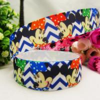 1493152, 22mm Cartoon Series Printed grosgrain ribbon, DIY handmade materials,headwear accessories, wedding gift wrap