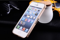 Ultra-thin 0.7mm Aluminum Metal Bumper Case Bezel Frame Champagne Gold for iPhone 5S 5G 5 No Screw Needed