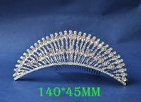 2014 New Fashion Wedding Bridal Crystal Rhinestone Crown Headband Jewelry Tiara Hair Comb Clip G0023