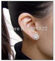 Promotion!  New Arrival 1 Pair Nice Pretty Fashion Sunflower Spherical Crystal Flower Stud Earrings Beautiful Earrings, JW27