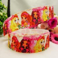 1493156, 22mm Princess Series Printed grosgrain ribbon, DIY handmade materials,headwear accessories, wedding gift wrap