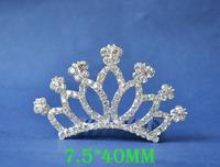 2014 New Fashion Wedding Bridal Crystal Rhinestone Crown Headband Jewelry Tiara Hair Comb Clip G007