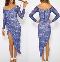 2014 Free shipping fashion  Irregular  lace  dress. Party dress