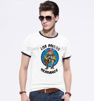 Los Pollos Hermanos Distressed Walter White Crystal Meth t shirt men Clothing show Breaking Bad T Shirt