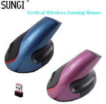 5D Wireless Optical Gaming Mouse High Quality 1600DPI 2.4GH Vertical Ergonomic Upright Vertical Mouse For Desktop & Laptop(China (Mainland))
