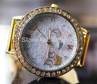 Luxury Watch Full Women&Men Steel Watches Women dress Rhinestone wristwatches women Casual watch 2014 Ladies Quartz watches