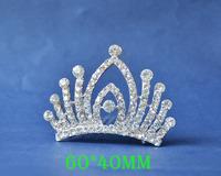 2014 New Fashion Wedding Bridal Crystal Rhinestone Crown Headband Jewelry Tiara Hair Comb Clip G0011