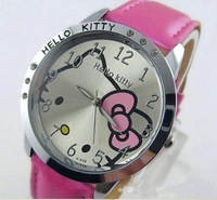 2014 HOT Sale Fashion Cartoon Watch Hello Kitty Watches woman children kids watch, Quartz Watch 5 colors, Free Shipping(CW426)