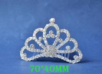 2014 New Fashion Wedding Bridal Crystal Rhinestone Crown Headband Jewelry Tiara Hair Comb Clip G0010